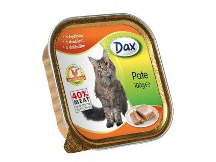 Dax vanicka Masové paté pro kočky drůbeží 100g
