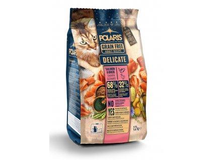 Polaris Cat Adult losos & kachna 1,2 kg  + Dárek masová hovězí kapsička Dax ZDARMA