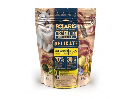 Polaris Cat Kitten kachna & losos 750 g