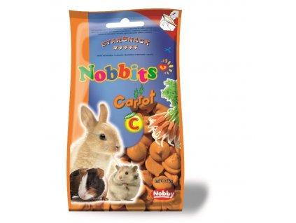 Nobby StarSnack Nobbits pamlsky pro hlodavce mrkev 75g