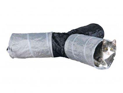 Tunel pro kočky se třemi vchody 3x22x50cm