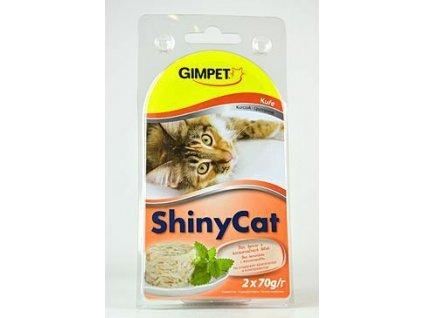 Gimpet kočka konzerva ShinyCat kuře 2x70g
