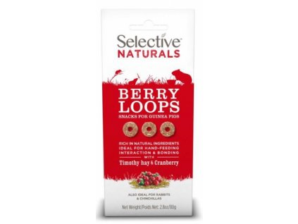 Supreme Selective Naturals snack Berry Loops 60g