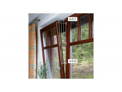 Ochranná mříž do okna, obdelníková 65 x 16 cm