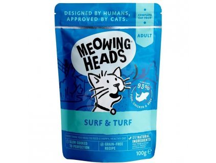 MEOWING HEADS Cat Surf & Turf kapsička 100g