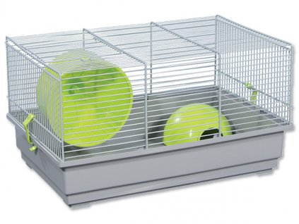 Klec SMALL ANIMALS Richard šedá se zelenou výbavou 39 x 25,5 x 22 cm (1ks)  Klec SMALL ANIMALS Richard šedá se zelenou výbavou 39 x 25,5 x 22 cm (1ks)