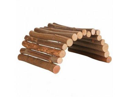 Dřevěný most z kulatých dřívek 22x10 cm pro myši a křečky  sleva 2% při registraci