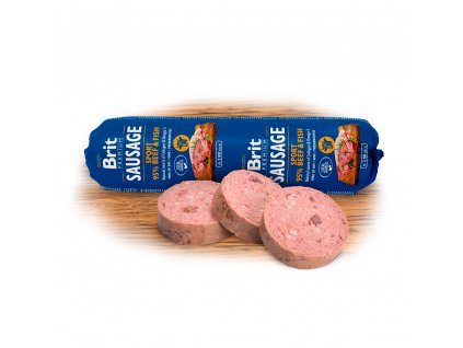 Salám BRIT Premium Dog Sausage Sport – Beef & Fish (800g)