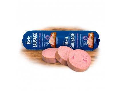 Salám BRIT Premium Dog Sausage Chicken & Rabbit 800g