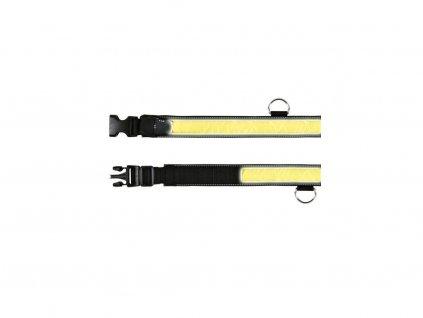 Blikací, reflexní obojek 30-40cm/35mm (S-M)