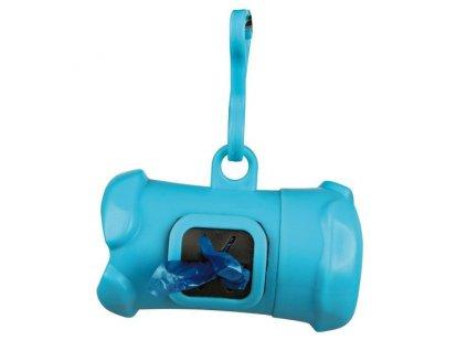 Plast.zásobník na sáčky na trus, tvar KOST,vč.1 role 12ks L