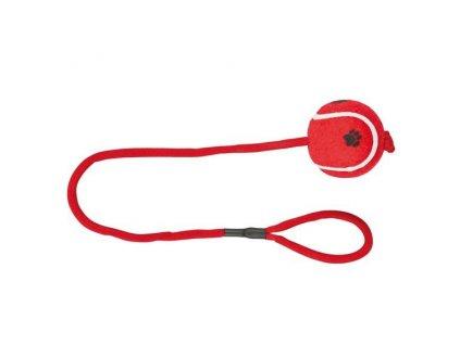 Vrhací tenisový míč s tlapkou na šňůře 6 cm/50 cm