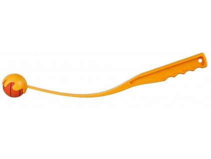 Katapult s mechovým míčem, střední, 5,5cm/50cm