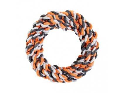 Kruh HIP HOP bavlněný 15 cm / 130 g šedá, tm.šedá, oranžová  sleva 2% při registraci