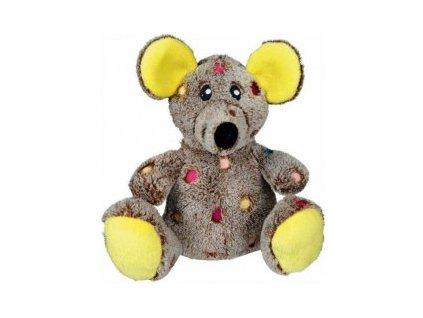 Plyšová myš s puntíky 17 cm