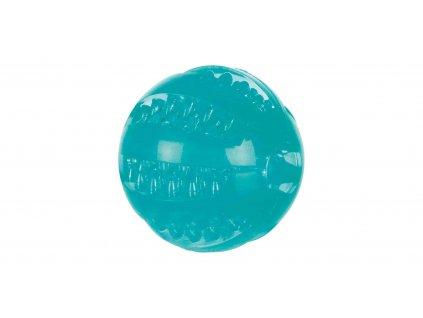 TPR termoplastový míč transparent, fosforeskující 7 cm