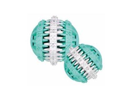 DENTAfun míč s mátou zeleno/bílý 7cm