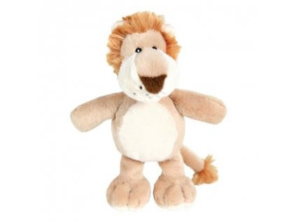 Plyšový lev, béžovo-krémový, se zvukem 22 cm