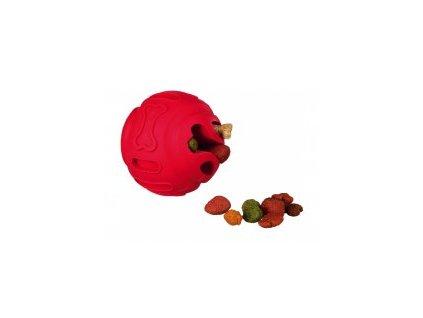 Dog Activity - míč na větší pamlsky s tvarem kost 8 cm