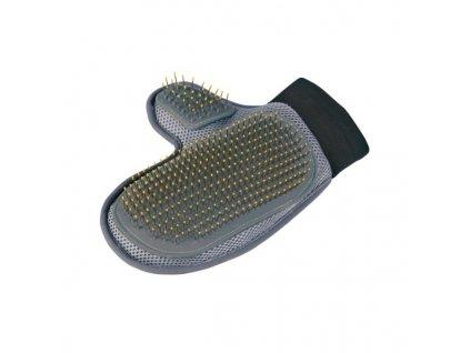 Pečující rukavice s drátěnými zuby s kuličkami 18x24 cm