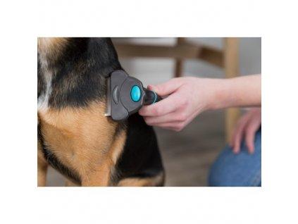 Trimovací hrablo s výměnitelnou hlavou 8x14 cm pro psy