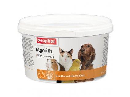 Beaphar řasa Algolith plv 250g  Obsahuje vysoké procento stopových prvků (například jód) a vitamínů. Má přirozený vliv na všechny funkce organismu. Primárně však pomáhá na potíže s p