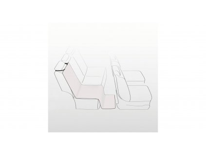Autopotah na zadní sedadla béžový 1,40 x 1,20 m