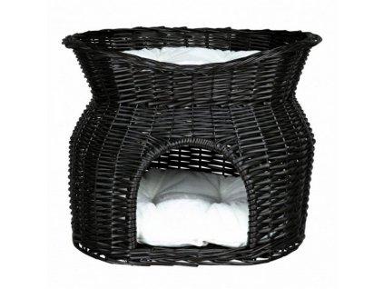 Trixie Proutěná bouda s odpočívadlem černá 54x43x37cm