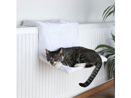 Závěsné lůžko na topení De Luxe 45x24x31cm - bílé