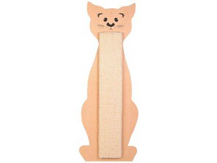 Škrabadlo tvar kočka přírodní/béžový 21 x 58 cm