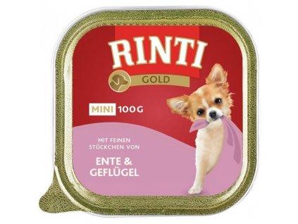 Rinti Dog Gold Mini vanička kachna+drůbež 100g