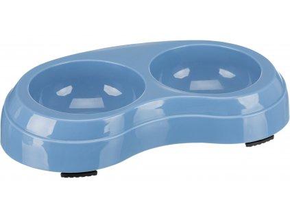 Plastová dvojmiska HEAVY modrá 2 x 0,2 l/ 10 cm