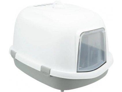 Toaleta Primo XXL krytá, 56 x 47 x 71cm, šedá/bílá