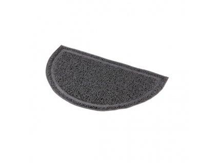 Půlkruhová PVC předložka šedá k WC 41 x 25 cm