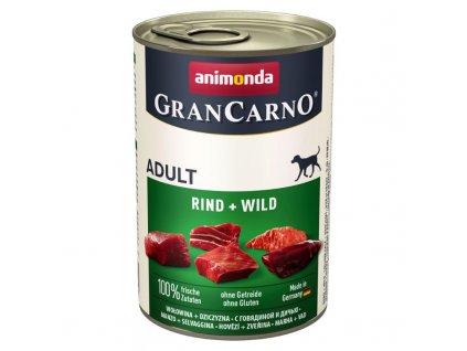 GRANCARNO Adult - hovězí + zvěřina 400g + výhodné balení