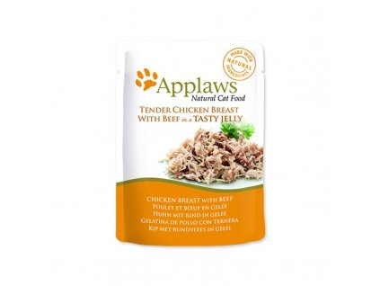 Kapsička Applaws Cat Chicken with Beef in Jelly 70g