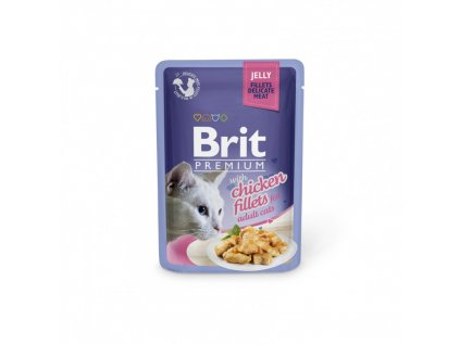 BRIT PREMIUM CAT DELICATE FILLETS IN JELLY WITH CHICKEN 85 G
