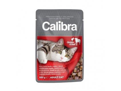 Calibra Cat kapsička hovězí a kuřecí v omáčce 100g