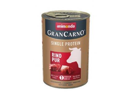 GRANCARNO Single Protein 400 g čisté hovězí, konzerva pro psy + výhodné balení