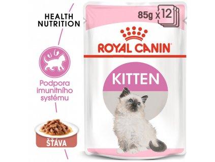 ROYAL CANIN Kitten Instinctive Gravy 12x85G (bal.)  Kitten Instinctive Gravy kapsička pro koťata ve šťávě
