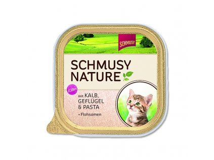 Schmusy Cat Nature Menu vanič Junior telecí+drůbež 100g