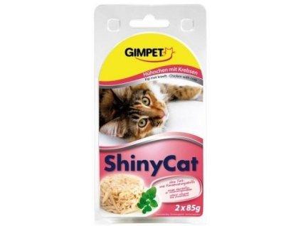 Gimpet kočka konzerva ShinyCat kuře/krab 2x70g