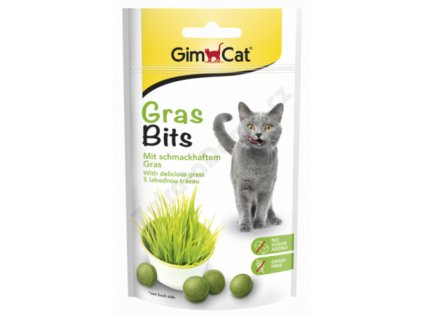 Gimcat Gras Bits 40 g tablety s kočičí trávou  sleva 2% při registraci