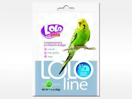 LOLOLINE perličky s jódem pro andulky 20 g