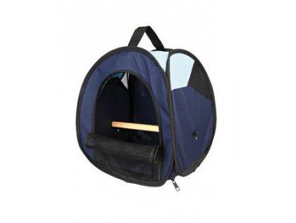Transportní taška s bidýlkem pro ptáky tm/sv.modrá 27x32x27
