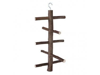 Dřevěná houpačka do voliéry 5 příček 47cm/18cm