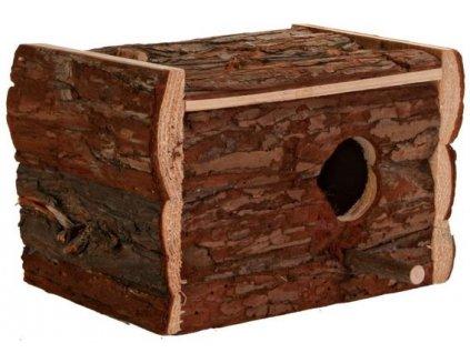Hnízdící budka z přírodního dřeva pro andulky 30x20x20 cm