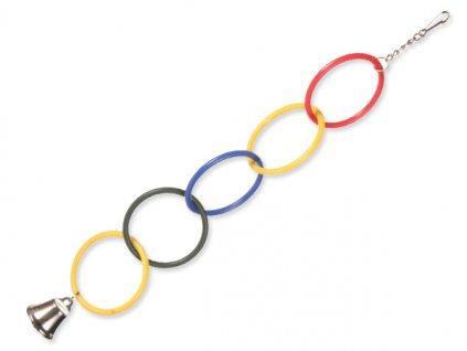 Olympijské kruhy se zvonečkem 25cm