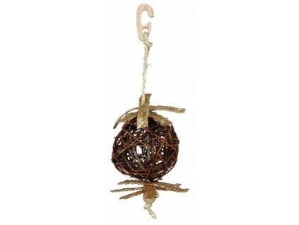 Natural Living-proutěný míček se slaměnou ozdobou 5,5/18cm