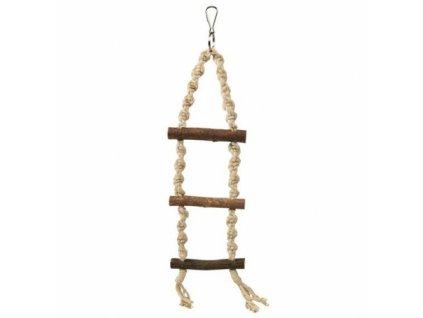 Trixie Závěsný žebřík motouz + 3 dřevěné příčky 40cm